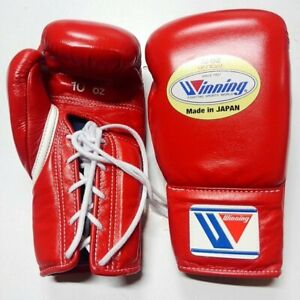 NEW Winning Boxing Gloves MS-300 Red 10oz Pro Type Lace-up from Japan