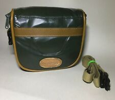 Small Vintage Olympus  Camera Bag Retro SLR DSLR SHOULDER BAG GREEN AND TAN
