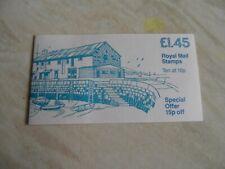 Gb unused mint stamp booklet £1.45