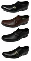 Shumaxx MEN SHOES Famous MYFAIR SLIP ON FORMAL DRESS  MENs Brown BLACK