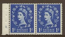 SB28 1d Wilding booklet pane perf type E cyl 1 Dot UNMOUNTED MNT/MNH
