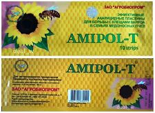 █ 2 х Amipol-T ( 20 strips ) Effective Prevention treatment Varroa Beekeeping