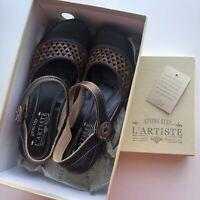 Spring Step L'ARTISTE Amour-B Wedge Sandal Size 39 Shoes Multicolor