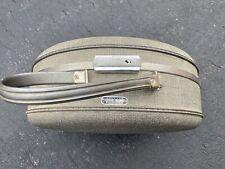 "Vintage American Tourister Tiara Tri-Taper 16"" Round Train Case Hardcase Tweed"