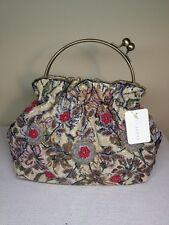 New Unique Vintage Purse Handbag Tapestry Embroidery Floral Satchel Medium