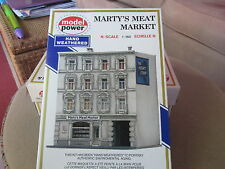 N Scale Un-Built  NEW Model Power Weathered Marty's Meat Market  !!