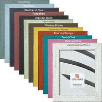 "Craig Frames Jasper, Rustic Picture Frame, 1.5"" Wide, Various Colors"
