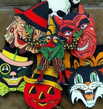 9 vintage Halloween Images cats devil witch vampires skull laser cut wood images