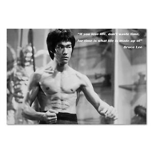 Bruce Lee Poster Motivational Inspired Art Self Motivated Quote High Quality