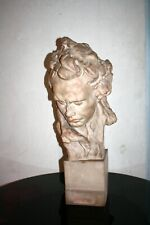 ALFREDO PINA  (1883-1966) GRAND BUSTE TERRE CUITE BEETHOVEN h: 74cm