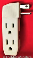 Triple 3 Outlet Grounded AC Wall Plug Power Tap Splitter 3-Way Electric Adapter