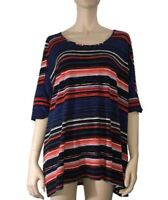 VIRTUELLE STRIPED TOP PLUS SIZE XS (18)