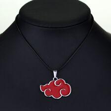 Naruto Sasuke Itachi Akatsuki Cloud Red Pendant Necklace Jewelry Anime Cosplay