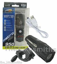 Cygolite Metro Pro 950 Lumens USB Bike Front Head Light 9 Mode IMPROVED 850