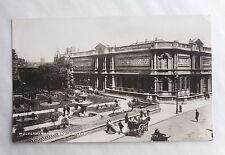c1905 B/W Postcard. Wolverhampton Art Gallery. Exterior & Street. Warwickshire