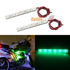 2x Green 6-5050-SMD LED Strip Lights Motorcycle Body Under Glow Accent Lighting