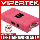VIPERTEK Stun Gun Mini PINK VTS-880 335 BV Rechargeable LED Flashlight <br/> 335 Billion Stun Gun + LIFETIME WARRANTY + FREE Case