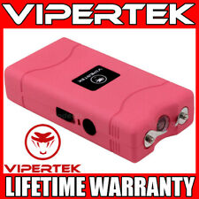VIPERTEK Stun Gun Mini PINK VTS-880 335 BV Rechargeable LED Flashlight