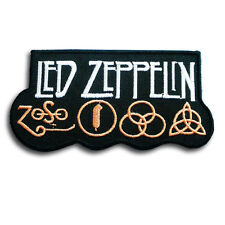 Led Zeppelin Patch Iron on Biker Rock Band Logo Rider Heavy Metal Music Cap Sew