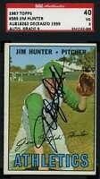 Jim Catfish Hunter 1967 Topps Hand Signed Sgc Original Authentic Autograph