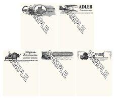Mignon Adler Yost Lambert  Columbia Typewriter 5 Reproduction Letterheads.