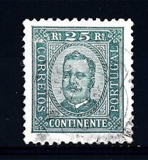 PORTUGAL - PORTOGALLO - 1892-1894 - Effigie di Carlo I - 25 r. verde