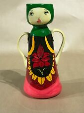 Vintage Decorative Hand Painted by Ardan Jerusalem Israel Ceramic Flower Vase