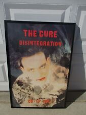 The Cure Disintegration Original Framed Uk promo poster '89 new wave gothic Rare