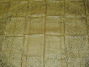 "Vintage HEIRLOOM RUGS Prov. RI Hooked Rug Pattern BURLAP ""CAPRI"" 52x62"