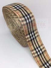 Scottish Tartan Style Polyester Double Sided Ribbon 1yd 25mm Bows