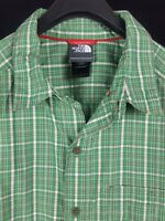 THE NORTH FACE Mens Green Plaid S/S Button-Down Hiking Shirt Large L