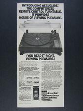 1979 BSR XR-50 Accuglide Turntable photo vintage print Ad
