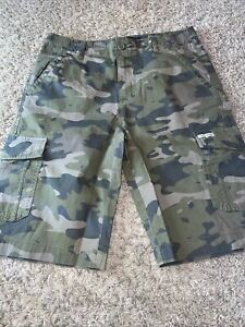 NWT Boy's Lucky Brand Camo Cargo Shorts Size Youth Medium or Large