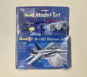 """Revell F/A-18D Hornet """"Wild Weasel"""" 1:144 Scale Model Kit #04064. Brand New."""