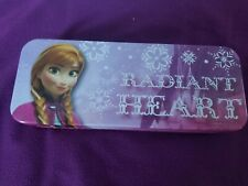 "Disney Frozen Anna Tin Pencil Case school supply 8"" x 3"" x 1.25"" Pencil Box"
