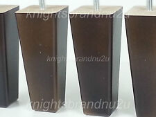 4x WOODEN FURNITURE FEET REPLACEMENT LEGS FOR SOFAS CHAIRS CABINETS & BEDS M8