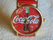 39mm Coca-Cola Polished Gold-tone SS Designer Fashion Watch MUST SEE!!!