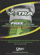 X-Tra DNX Air Filter Offer 2005 Magazine Advert #7569