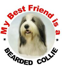 2 Bearded Collie Car Stickers By Starprint