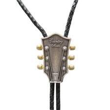 Original Vintage Silver Plated Guitar Music Wedding Bolo Tie Necklace