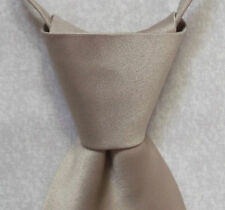 NEW JACOB ALEXANDER WIDE TIE BNWT GOLD BEIGE MENS NECKTIE WEDDING READY TIED