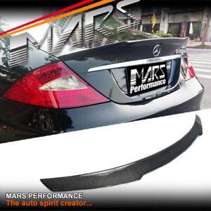 Carbon Trunk Lip Spoiler for Mercedes-Benz CLS W219 C219 05-10 & CLS55 CLS63 AMG