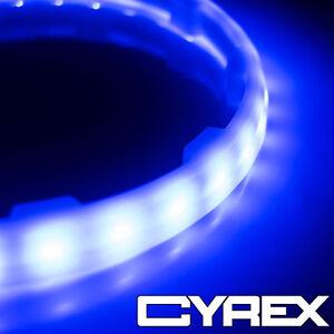 "2PC BLUE LED SPEAKER COLOR CHANGING LIGHT RINGS FITS 6.5"" SUBWOOFER SPEAKERS P4"