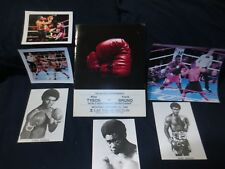 RARE ORIGINAL 2/25/1989 MIKE TYSON VS FRANK BRUNO PRESS KIT PROGRAM-PLUS PHOTOS