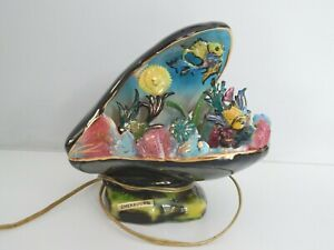 French Kitsch Vallauris Shell / Fish Lamp