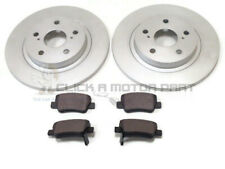 REAR 2 BRAKE DISCS AND PADS SET NEW FOR TOYOTA AVENSIS 1.6 1.8 2.0 D4D 2.2 09-15