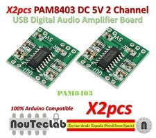 2pcs PAM8403 Audio Module Class-D Digital Amplifier Board 2.5 to 5V USB Power