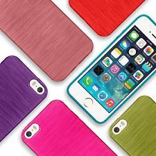 Silikon Hülle Apple iPhone 5 5S SE Case Schutz Cover Brushed Handy Etui Tasche