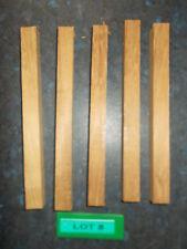 Five Iroko Woodturning Blanks - 175 x 15 x 15mm - Lot 8