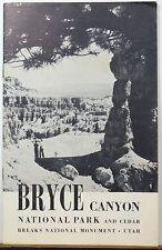 1953 Bryce Canyon National Park & Cedar Breaks Utah booklet & map  Zion insert b